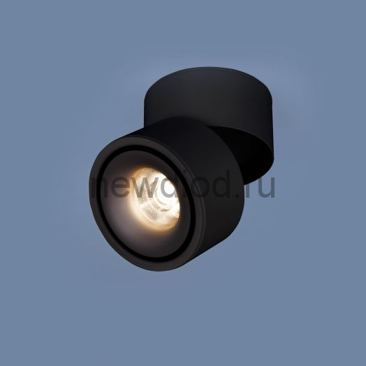 Накладной светодиодный светильник DLR031 15W 4200K 3100 черный матовый