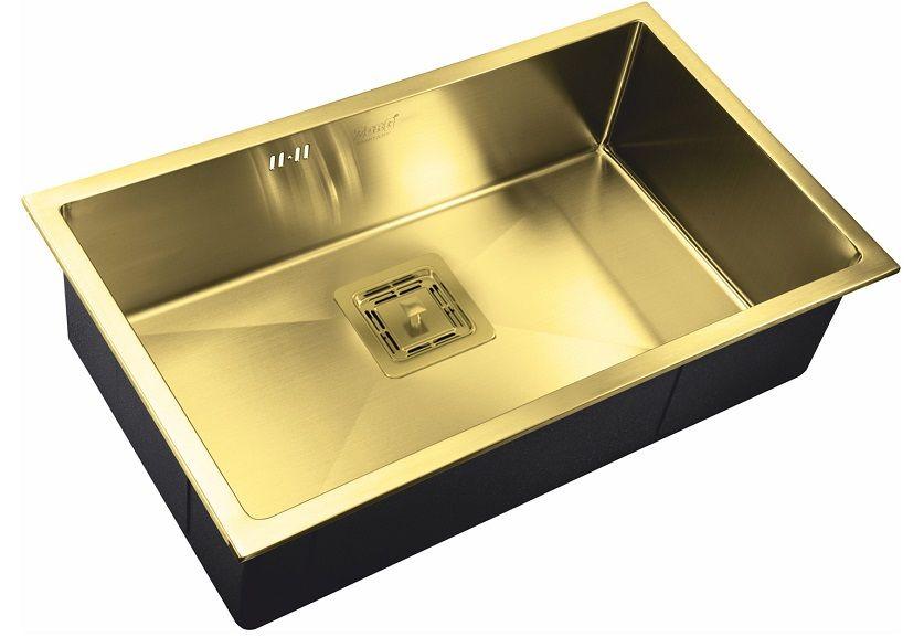Врезная кухонная мойка ZorG PVD SZR-7444 BRONZE