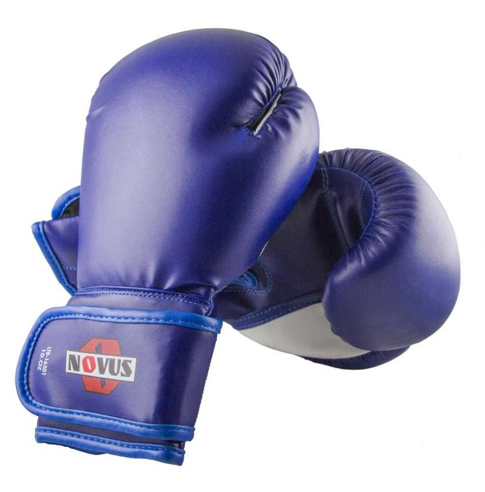 Перчатки боксерские Novus синие LTB-16301