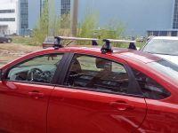 Багажник на крышу Lada Vesta sedan, Lux, крыловидные дуги