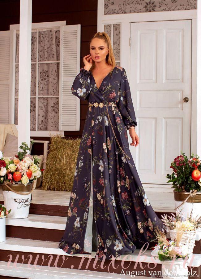 Летнее платье с декольте