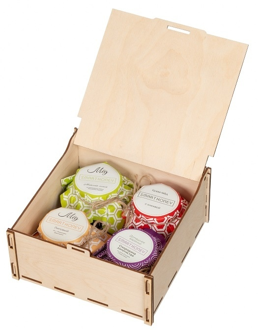 Упаковка из дерева для меда