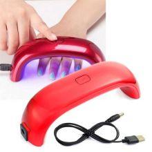 Лампа для сушки гель-лака Mini Rainbow - LED, 9W, USB, Цвет: Красный