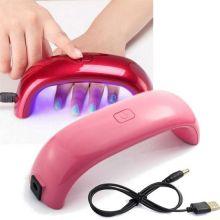 Лампа для сушки гель-лака Mini Rainbow - LED, 9W, USB, Цвет: Розовый