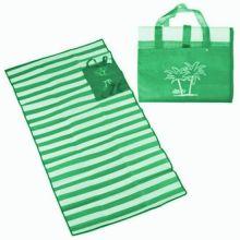 Пляжный коврик с ручками для переноски, 120х170 см, Цвет: Зелёный