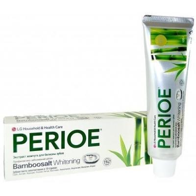 """LG Perioe Зубная паста с бамбуковой солью и отбеливающим эффектом """"Бамбуковая соль и экстракт жемчуга"""""""