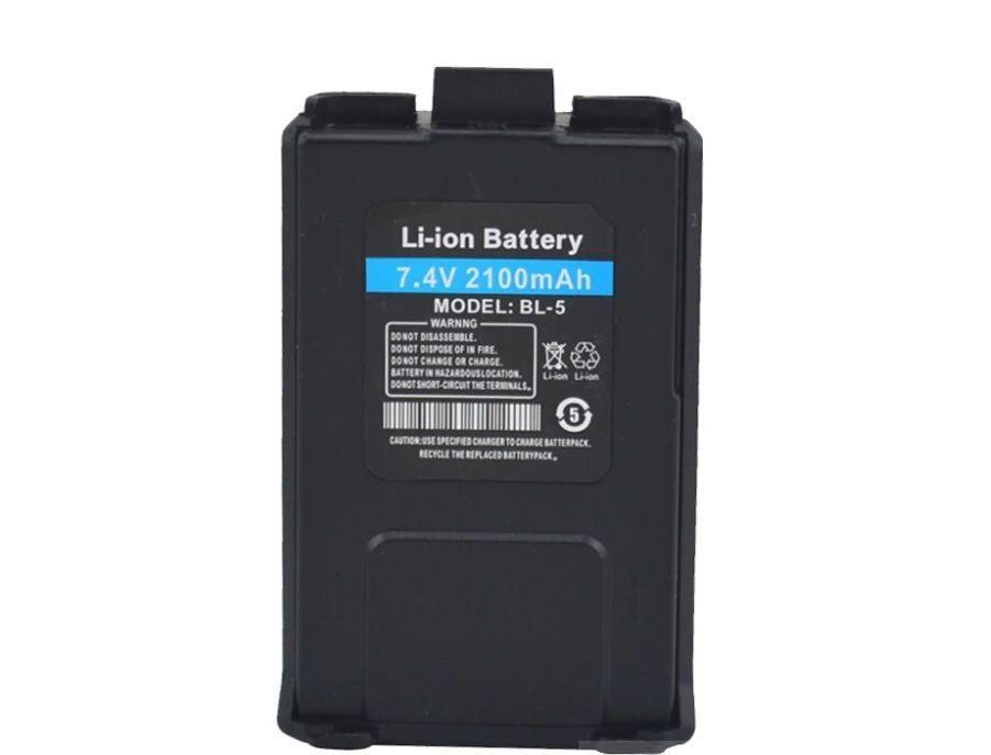 Аккумулятор BL-5L для рации Baofeng UV-5R и DM-5R Plus 2100 мАч увеличенной мощности (усиленный)