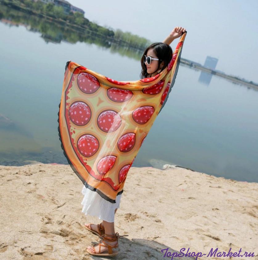 Пляжное шифоновое парео-покрывало, 1.5 м, Цвет: Пицца