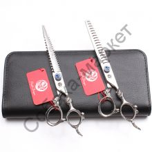 Набор грумера 7 дюймов ножницы 2 шт  Purple Dragon серия Антик Блу