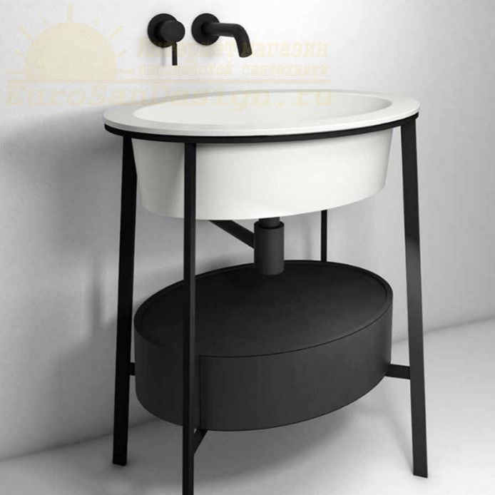 Раковина Cielo Catino Ovale CALAO накладная на мебель 70х50 ФОТО