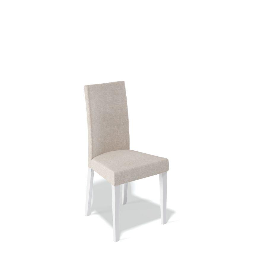 Деревянный стул KENNER 101М, с мягким сиденьем и спинкой, цвет белый - бежевый