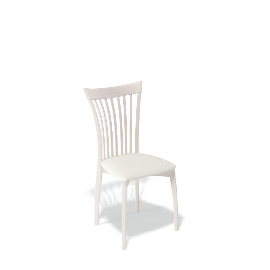 Деревянный стул KENNER 102М, с мягким сиденьем, цвет белый