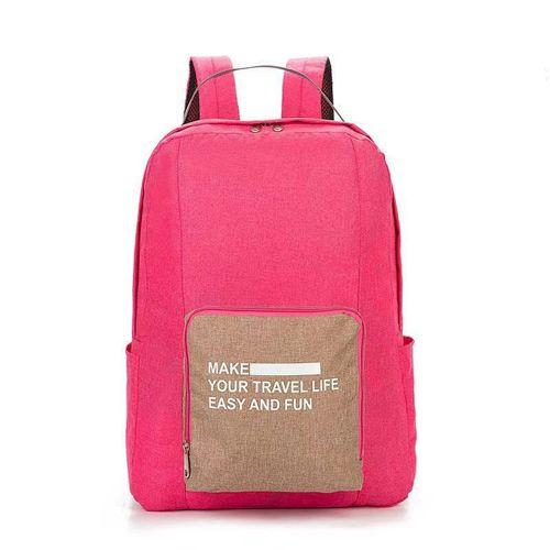 Складной туристический рюкзак New Folding Travel Bag Backpack 20: цвет – розовый.
