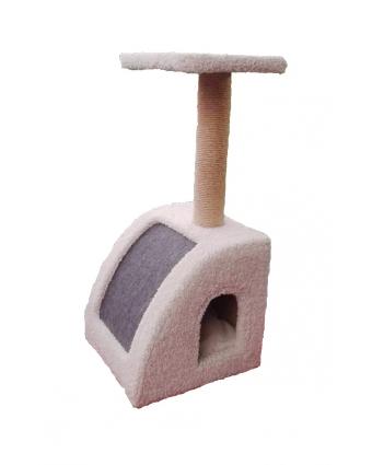 Домик для кошек VIP, ковролин, выревка джут