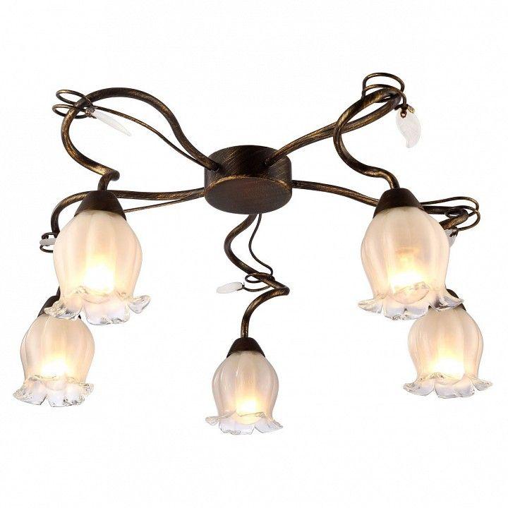 Потолочная люстра Arte Lamp Glamore A7449PL-5BR
