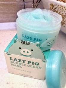 Кислородная маска-пенка для лица LAZY PIG bubble clean mask , 100гр