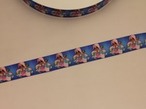 Лента репсовая с рисунком, ширина 25 мм, длина 10 метров, ЛР5748-15