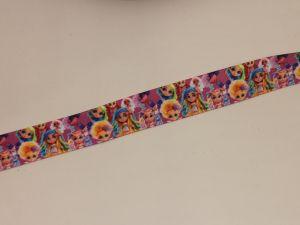 Лента репсовая с рисунком, ширина 25 мм, длина 10 метров, ЛР5748-16