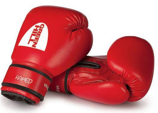 Перчатки боксерские GREEN HILL HAMED BGH-2036 красные