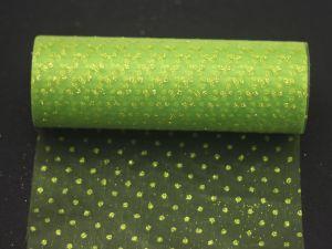 Фатин с люрексом, средняя жесткость, ширина 15 см, бобина 10 ярдов, цвет: Q21