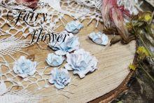 """Бумажные розы """"Парковая роза голубая"""""""