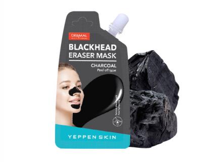 Dermal Yeppen Skin Blackhead Eraser Mask Маска-пленка для удаления черных точек в области носа и подбородка с древесным углем и глиной 20 гр