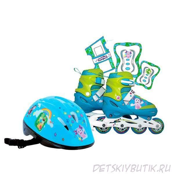 Набор (ролики+защита+шлем) «TM Лунтик», Gulliver, размер 30-33