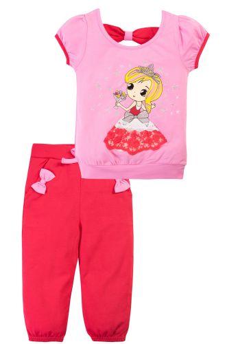 Костюм для девочек 1-4 лет Bonito розовый, красный