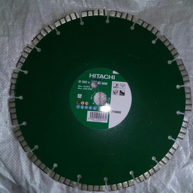 Диск алмазный по бетону Hitachi Premium 350мм
