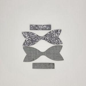 `Вырубка ''Хвост Бант Классический-2, набор - 2 комплекта'', размер: 111*41 мм, иск.кожа(PU) 0,8 мм, JD8015-61