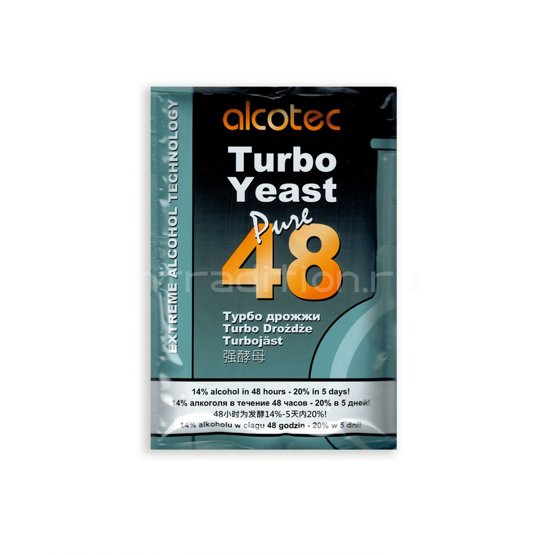 Турбодрожжи Turbo Yeast 48 для сахарных браг, на 25 л (Alcotec, Англия)