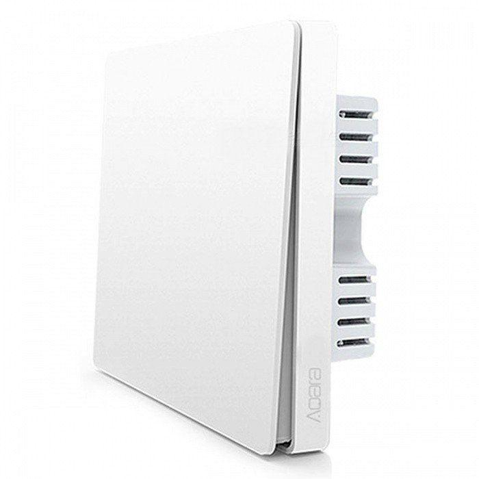 Выключатель настенный Aqara одноклавишный Wall Switch (Одинарный, без нулевой линии. Белый) (QBKG04LM) (RU/EAC)