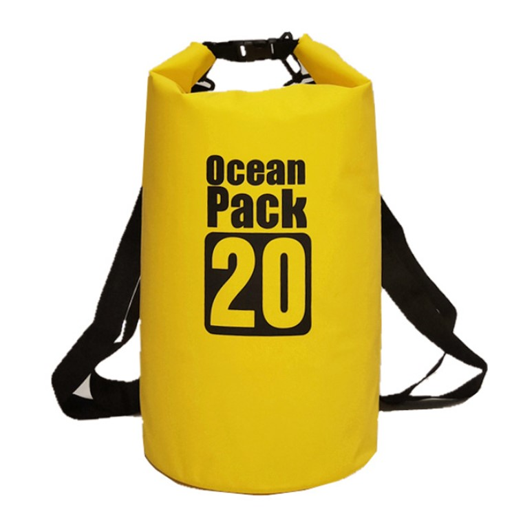 Водонепроницаемая сумка-мешок Ocean Pack, 20 L, цвет желтый