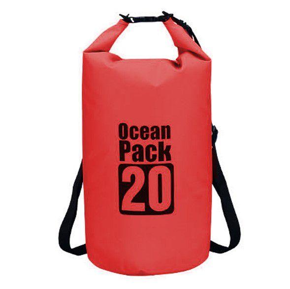 Водонепроницаемая сумка-мешок Ocean Pack, 20 L, цвет красный