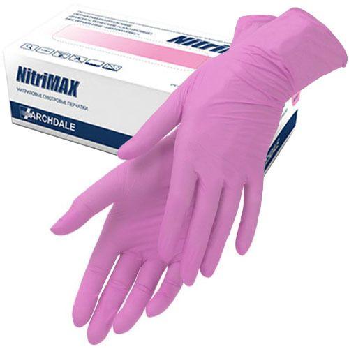 Перчатки Нитриловые XS (РОЗОВЫЕ) 50 пар NitriMAX