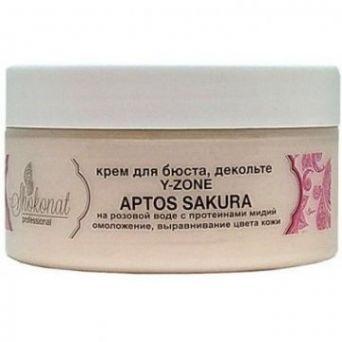 Крем для бюста, шеи, декольте Y-ZONE APTOS SAKURA на розовой воде с протеинами мидий для омоложения и выравнивания цвета кожи