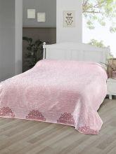 Простыня махровая жаккард OTTOMAN 160x220 (розовая) Арт.3260-4