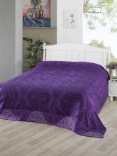 Простыня махровая жаккард OTTOMAN 160x220 см (фиолетовая) Арт.3260-9