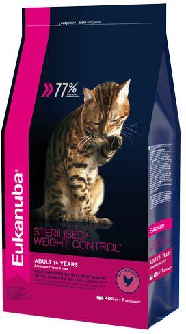 EUK Cat корм для взрослых кошек с избыточным весом и стерилизованных