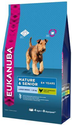 EUK Dog корм для пожилых собак крупных пород