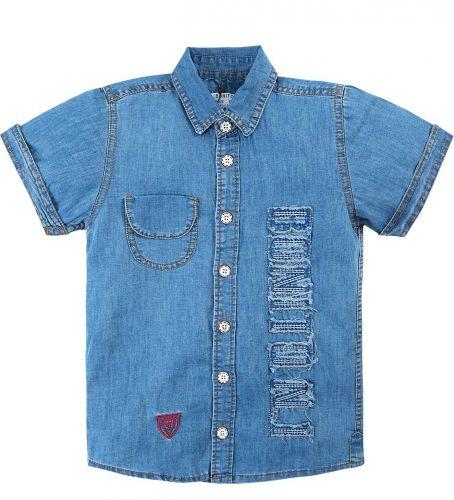 Джинсовая рубашка для мальчика 7-11 лет Bonito BK637DJ голубой