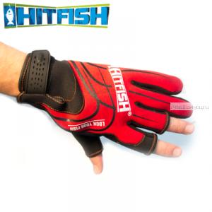 Перчатки рыболовные Hitfish Glove 05 #L (красный)
