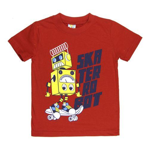 Футболка для мальчика 1-4 лет Happy Kids красная