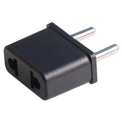 Сетевой переходник (плоский евро-адаптер) черный