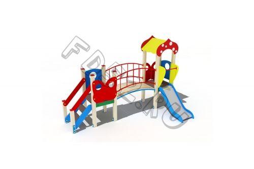 Детский игровой комплекс                           Полянка Горка 750                                           3900х2130х2600