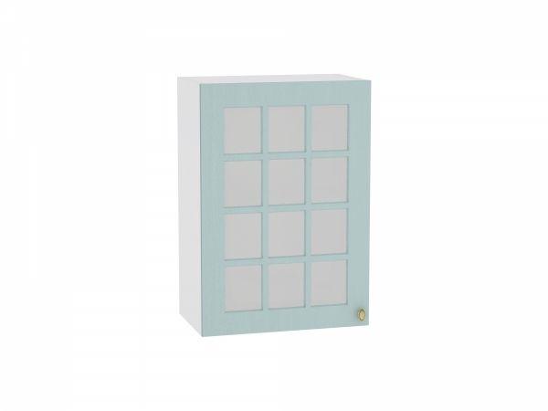 Шкаф верхний Прованс В500 со стеклом (голубой)
