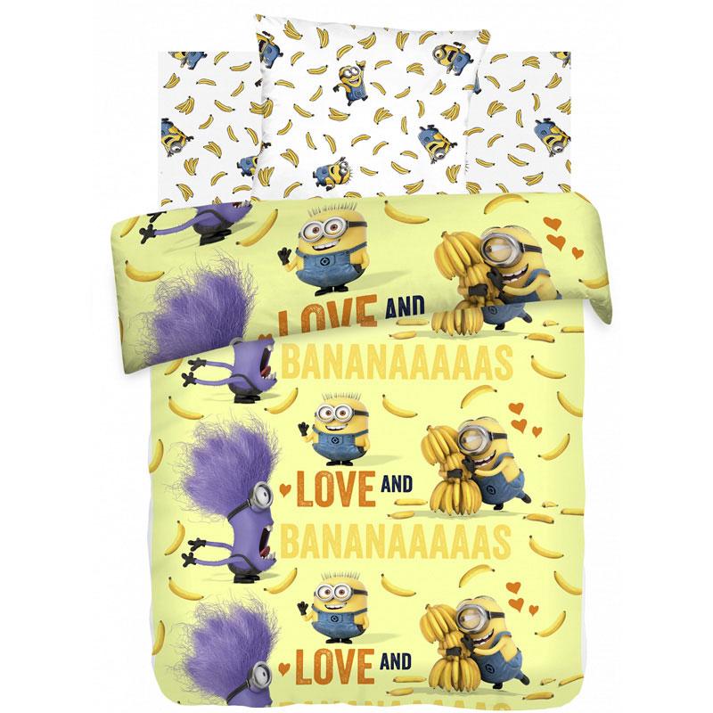 """Детское постельное белье """"Бананас"""", рис.8817+8818 (Миньоны), 1.5сп."""