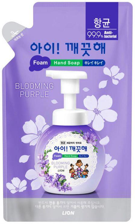 CJ Lion Пенное мыло для рук Ai - Kekute Аромат фиалки с антибактериальным эффектом запасной блок 200 мл