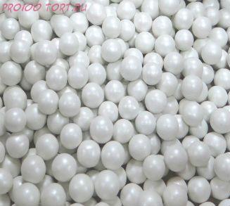 """Шарики сахарные """" Белый принц"""" глянец (d-5мм) вес 50 гр."""