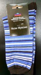 Мужские цветные носки  с418 фиолетовая полоска 27-29